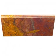 5x12 Multi Red Polished Onyx Skirting Baseboard Molding Millwork