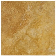 12x12 Tuscany Gold Solid Honed & Filled Finish Square Travertine