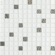 Quantum Ice Prince 5/8 in.x 5/8 in. White Glass Mosaic Tile