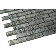 Silver Crest Galaxy Series 1 x 3 Glass Mosaic Tile