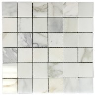 Italian Calacatta Gold Marble Polished 2 X 2 Mosaic Tile