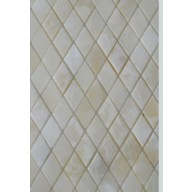 1 in. X 1 in. White Onyx Diamond Polished Mesh Mosaic Tiles