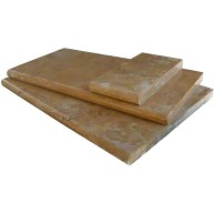 Tuscany Riviera 6 in. x 12 in. x 1.18 in. or 3 cm Thick Brushed Travertine Coping for Pool, Patio and Driveway (Each Sqft. = 2 Pieces.)