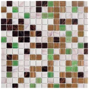 Elixir Discovered Gold Blend 3/4 in. x 3/4 in. Glass Mosaic Tile