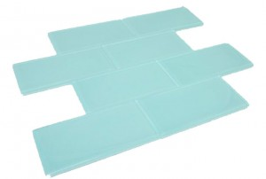 Broadway Euro Gray 3 in. x 6 in. Soft Mint Glass Mosaic Tile