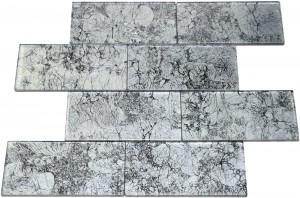 Silver Crest Galaxy Series 3 x 6  Glass Tiles