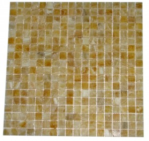 5/8x5/8 Premium Quality Honey Onyx Polished  Mosaic Tiles