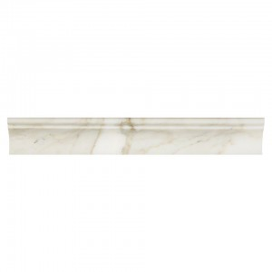 2 in. x 12 in. Calacatta Gold Polished Marble Cornice Molding Trim