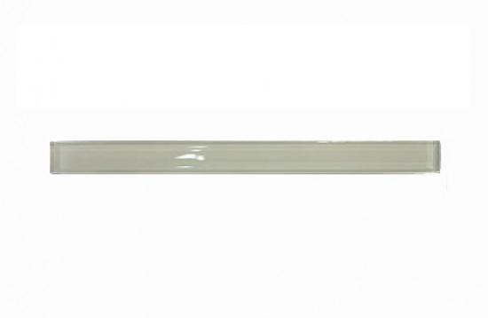 Newport Soft White 1 in. x 12 in. Glass Pencil Molding Tile