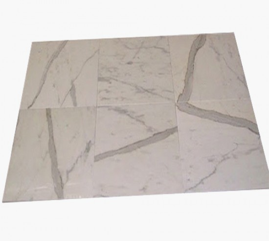 Calacatta Gold Marble Honed Flooring Tiles 18 in. x 18 in.