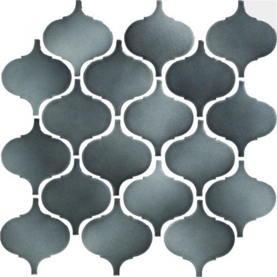 Arabesque Grey Porcelain Mosaic Tile | Pool Rated Tile | Accent Wall | Backsplash | Bathroom | Shower