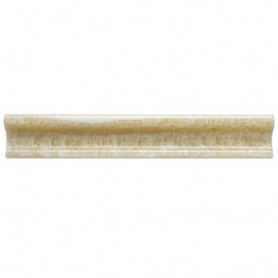 2x12 Honey Onyx Polished Ogee Chair Rail Molding