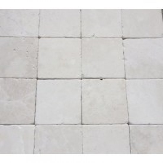 Botticino 4 in. X 4 in.Tumbled  Marble Tile
