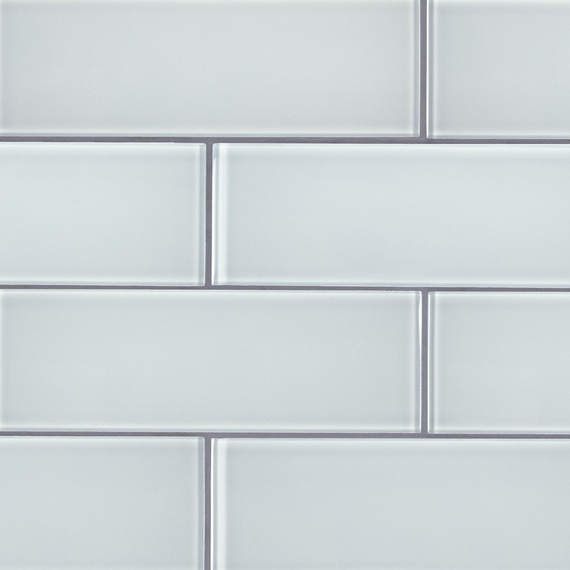 3x9 Ice White Subway Glossy Gl Wall Tile