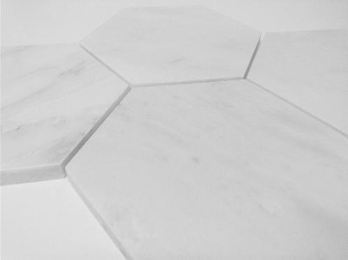 Bianco White Carrara 5 Quot Hexagon Honed Marble Tile