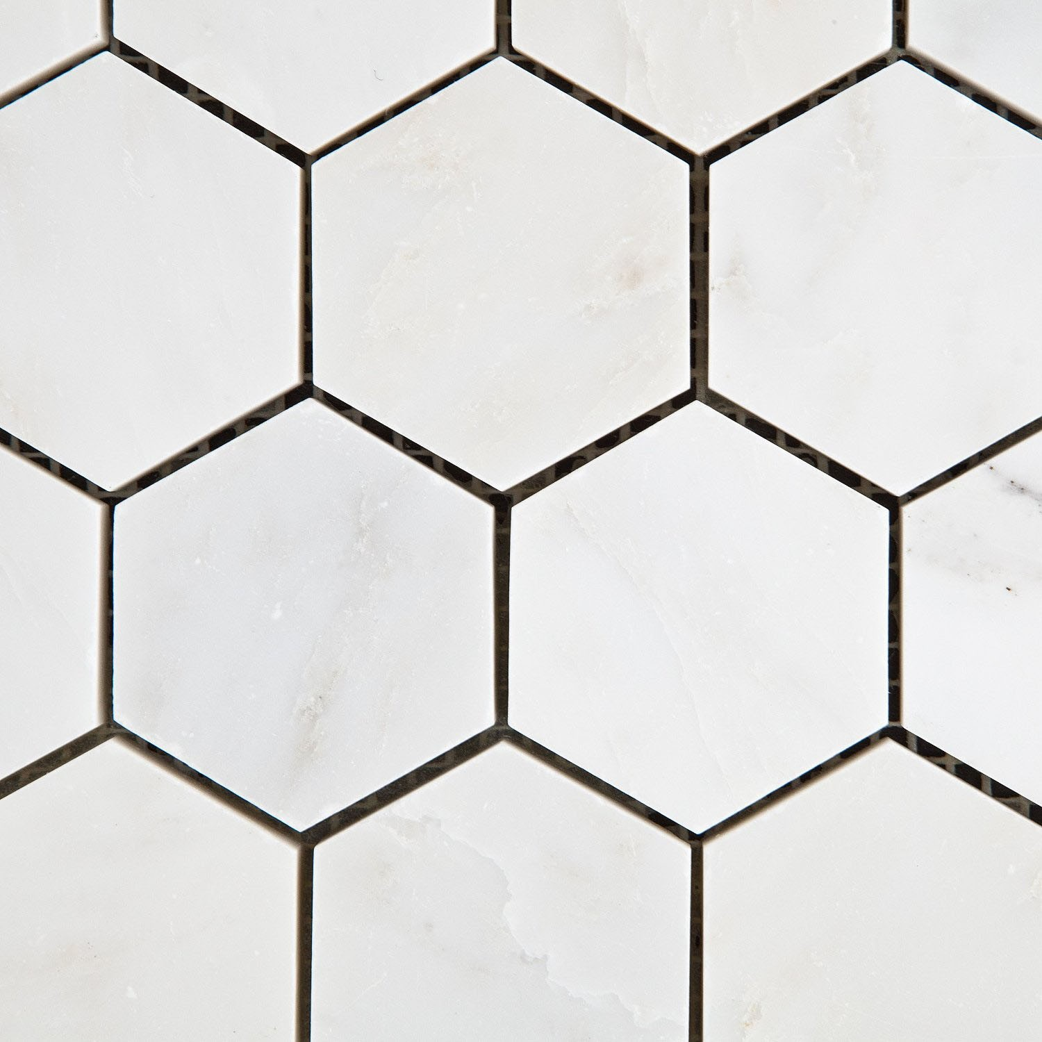 Oriental Amp Eastern White Marble 2 Quot Hexagon Honed Mosaic Tiles
