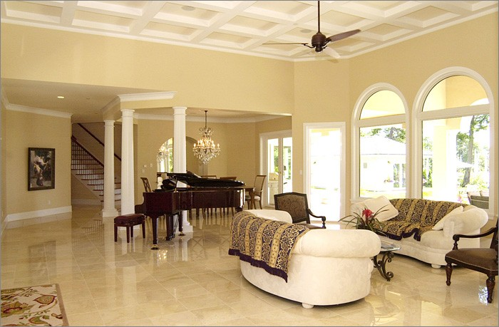 12x12 Crema Marfil-Select Honed Marble Floor and Wall Tiles