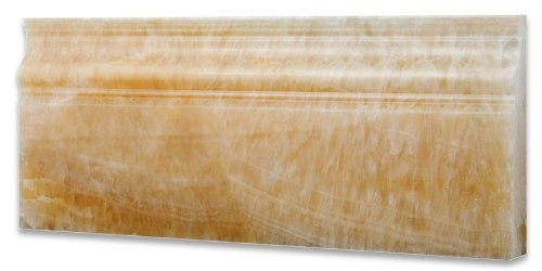 Onyx Trim Pieces : Honey onyx tile baseboard for wall