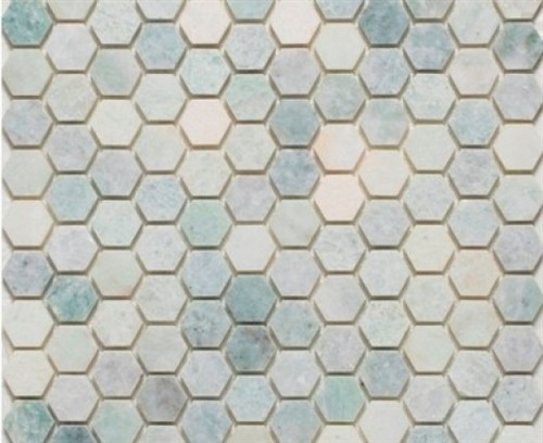 Ming Green Marble 1 Quot Hexagon Polished Mesh Mounted Mosaic Tile