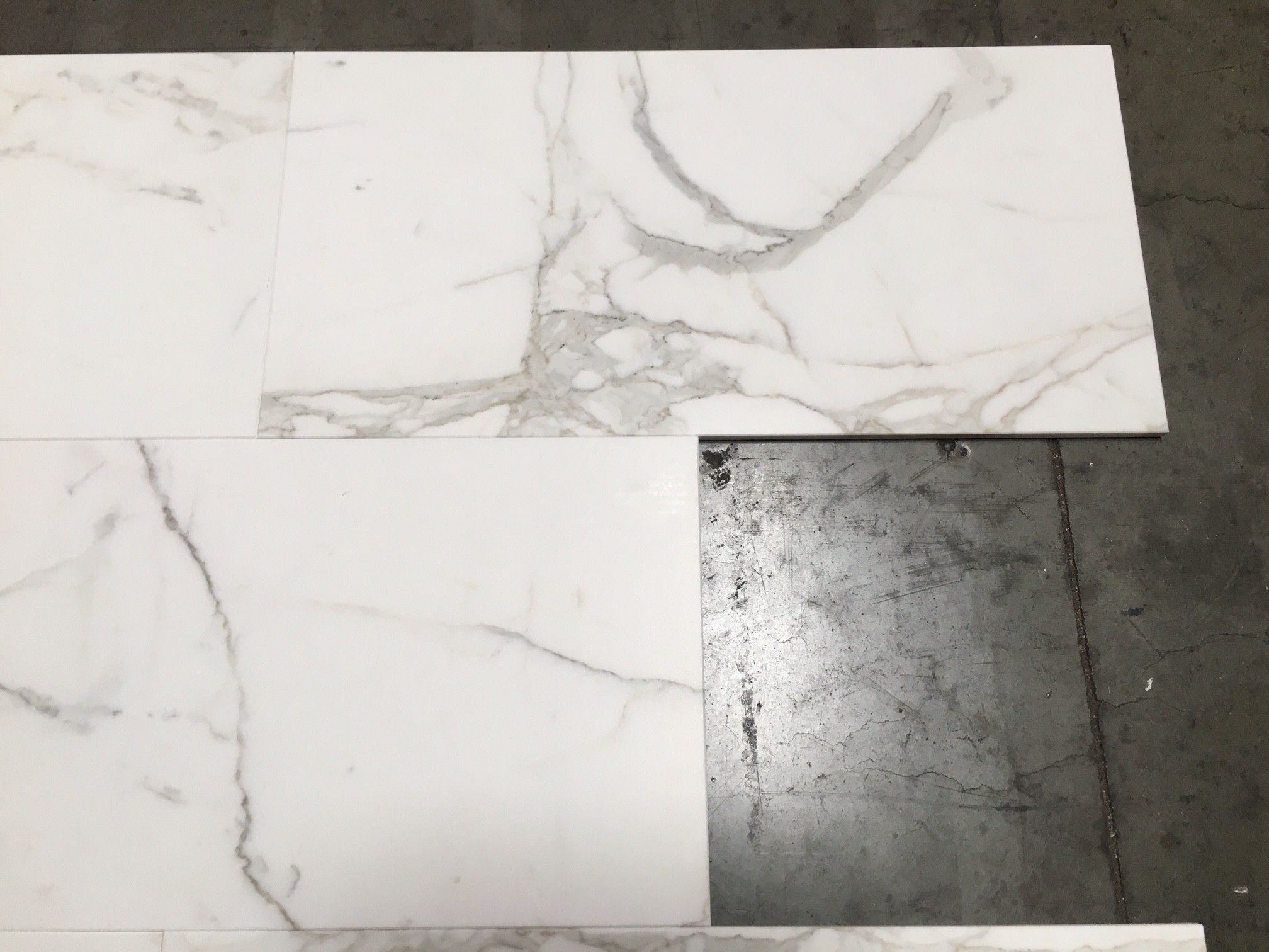 Calacatta Gold Honed Marble Floor Wall 12 In X 24 In Tile