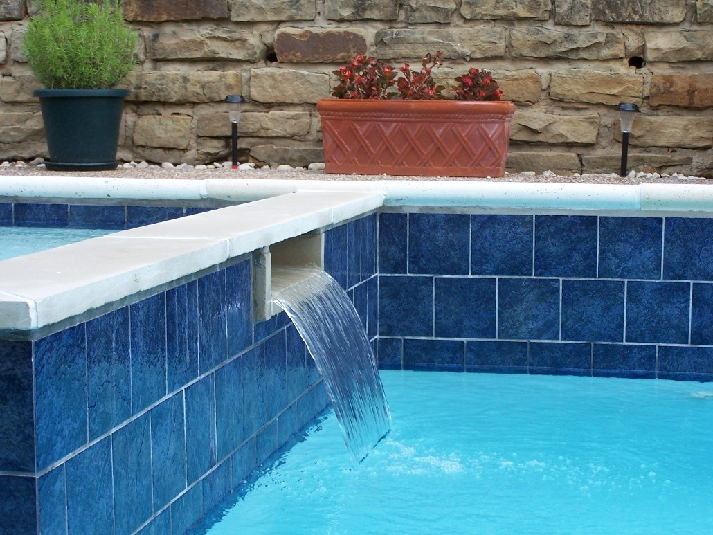 2x2 Trend Blue Glossy Glass Mosaic Pool Tile Trend Pool Tile