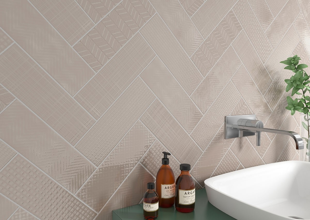 - Urbano Warm Concrete 4x12 Subway Glossy Taupe Ceramic Wall Tile