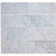 Italian White Carrara 6x12 Subway Polished Marble Tile