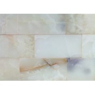 3 in. x 6 in. White Onyx Polished Subway Tiles - Price Reduced for Limited Time Only