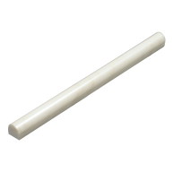 Arabescato White Carrara Marble Polished 3/4x12 Pencil Molding Marble Tile