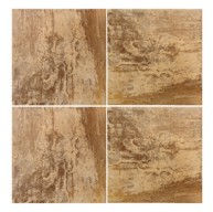 6x6 Gambre Latino Giallo Glossy Glazed Porcelain Tile for Pool, Wall and Backsplash