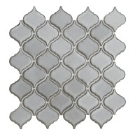 Arabesque Grey Small Porcelain Mosaic Tile | Pool Rated Tile | Shower | Swimming Pools | Pool Liners | Exterior Wall