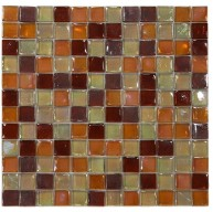 1 in. x 1 in. Laguna Wine Square Glass Mosaic Tile | Pool Rated Tile | Backsplash | Shower | Kitchen | Bathroom | Wall | Accent Wall | Exterior Wall