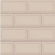 3 in.x 6 in.Almond Glossy Beveled Subway Tile