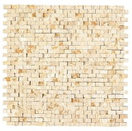 Rockart Beige Petronio Natural Stone Mosaic Tile by Roca Tile USA
