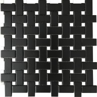 Black Basketweave with White Dot Porcelain Mosaic Tile 6mm Thick | Roca Tile | Kitchen | Bathroom | Shower | Wall | Backsplash | Accent Wall