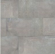 Cemento Napoli 12 in. x 24 in. Matte Grey Glazed Porcelain Floor and Wall Tile | Backsplash | Bathroom | Kitchen | Shower | Fireplace | Countertop