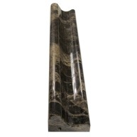 2 in. x 12 in. Dark Emperador  Marble Polished Chair Rail Molding