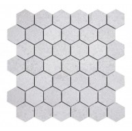 2 in. x 2 in. Grant Silver Hexagons Matte Porcelain Mosaic Tile | Kitchen | Bathroom | Shower | Wall | Floor | Backsplash | Accent Wall