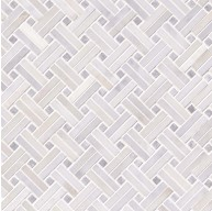 2x2 Greecian White Basketweave Polished Marble Mosaic Tile