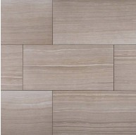 12 in. x 24 in. Eramosa Silver Glazed Porcelain Matte Floor and Wall Tile