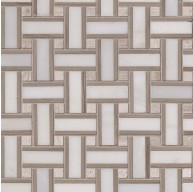 Renaissance Basketweave Pattern Honed Marble Mosaic Tile | Wall | Floor | Countertop | Backsplash | Shower | Kitchen | Fireplace | Accent Wall