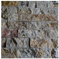 Natural Stone Scabos Travertine 2x4 Brick Pattern Split Face Mosaic Tile