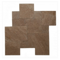 Noce Versailles French Pattern Tumbled Travertine Pavers Tile for Driveway, Pool Deck, Patio