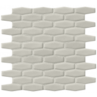 Antique White Elongated Hexagon 8mm Ceramic Mosaic Tile | Kitchen | Bathroom | Shower | Wall | Backsplash | Accent Wall