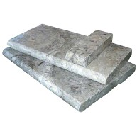Silver Travertine 16 in. x 24 in. x 2