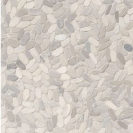 Sliced Pebble Truffle Tumbled Marble Mosaic Tile | Wall | Floor | Backsplash | Accent Wall | Bathroom | Kitchen | Shower | Countertop | Fireplace