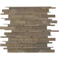 Linear Pattern Bamboo Desert Sand Polished Mosaic Tile by Soci