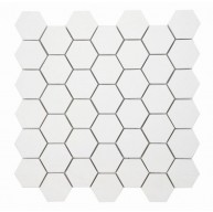 2 in. x 2 in. Super White Stone Hexagon Porcelain Mosaic Tile | Kitchen | Bathroom | Shower | Wall | Floor | Backsplash | Accent Wall