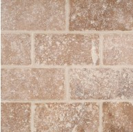 3x6 Noche Tumbled cTravertine Mosaic Tile