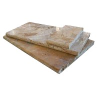 Tuscany Porcini 6 in. x 12 in. x 1.18 in. or 3 cm Travertine Coping for Pool, Patio, Caps or Driveways (Each Sqft. = 2 Pieces)